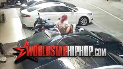 Wait A Minute: Shorty Dropped From The Sky Right Onto A Car!